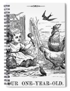 Girl With Birds, 1873 Spiral Notebook