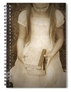 Girl With Books Spiral Notebook
