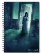 Girl With Candle In Doorway Spiral Notebook