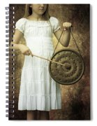 Girl With Gong Spiral Notebook