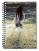 Girl With Teddy Spiral Notebook