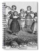 Girls Playing, 1844 Spiral Notebook
