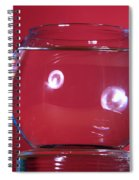 Glass Bowl Before Impact 1 Of 3 Spiral Notebook
