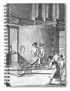 Glass Manufacture, 1751 Spiral Notebook