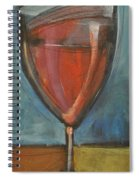 Glass Of Red Spiral Notebook