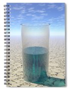 Glass Of Water Spiral Notebook