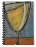 Glass Of White Spiral Notebook
