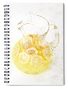 Glass Pitcher Of Lemonade Spiral Notebook