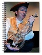 Glass Violin Spiral Notebook