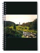 Glendalough Stream And Tower Spiral Notebook