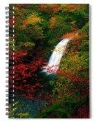 Glenoe Waterfall And Glen, Co Antrim Spiral Notebook