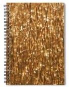 Glistening Gold Prairie Grass Abstract Spiral Notebook