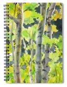 Glittering Poplars Spiral Notebook