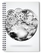 Globe With Cogs And Gears Spiral Notebook