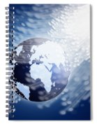 Globe With Fiber Optics Spiral Notebook