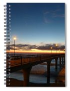 Glow On The Horizon Spiral Notebook