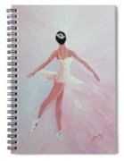 Glowing Ballerina Original Palette Knife  Spiral Notebook