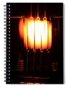 Glowing Filament 3 Of 3 Spiral Notebook