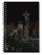 Glowing Seattle Skyline Spiral Notebook