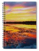 Glowing Skies Over Crews Lake Spiral Notebook