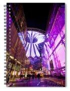 Glowing Sony Center Spiral Notebook
