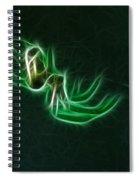 Glowing Spider Spiral Notebook
