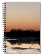 Glowing Sunset Spiral Notebook