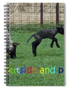 Go Outside And Play Rainbow Spiral Notebook