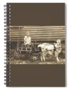 Goat Wagon Spiral Notebook