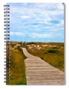 Going To The Beach Spiral Notebook