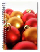 Gold And Red Xmas Balls Spiral Notebook