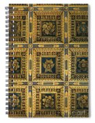 Gold Cathedral Ceiling Italy Spiral Notebook