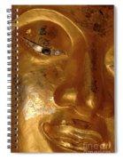 Gold Face Of Buddha Spiral Notebook