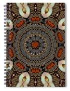 Gold Flower Cookie Spiral Notebook