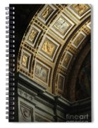 Gold Inlay Arches St. Peter's Basillica Spiral Notebook
