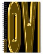 Gold Love Spiral Notebook