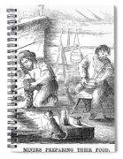 Gold Mining Camp, 1853 Spiral Notebook