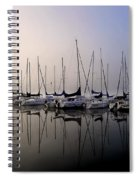 Gold N Blue Sailboats Too Spiral Notebook