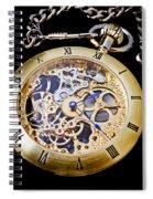 Gold Pocket Watch Spiral Notebook