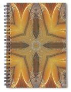 Golden Abstarct Energy Spiral Notebook