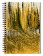 Golden Autumn Forest Spiral Notebook