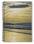 Golden Blue Spiral Notebook