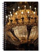 Golden Chandelier Spiral Notebook