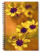 Golden Coreopsis Wildflowers  Spiral Notebook