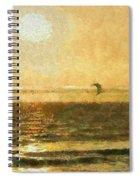 Golden Day Painterly Spiral Notebook