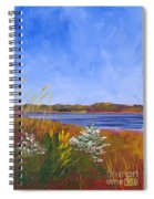 Golden Delaware River Spiral Notebook
