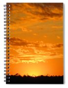 Golden Evening Spiral Notebook