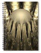 Golden Fractal Spiral Notebook