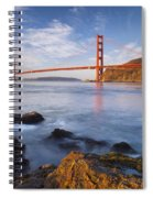 Golden Gate At Dawn Spiral Notebook