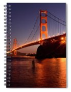Golden Gate Bridge At Night 2 Spiral Notebook